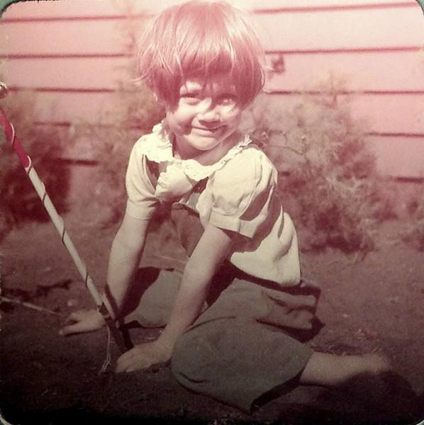 Jan digging in dirt 1947