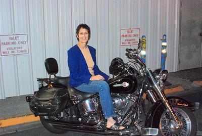 Jan on motorcycle
