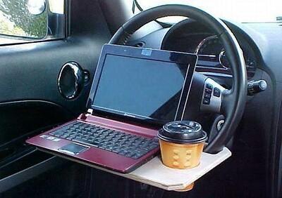 desk for vehicle wheel
