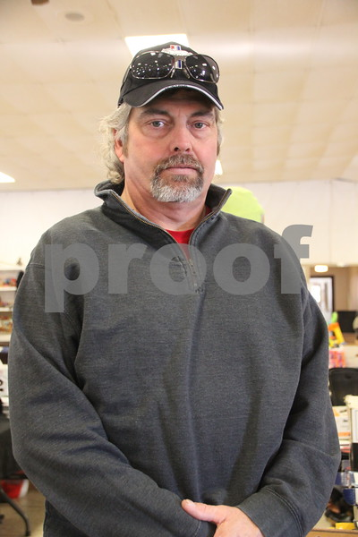 Pictured here is: Dan Holmes, who took time out to  have his picture taken at the recent Flea Market. On January, 14, 2017 the Fort Dodge Webster County Fairgrounds was the sight of the Winter Flea Market.