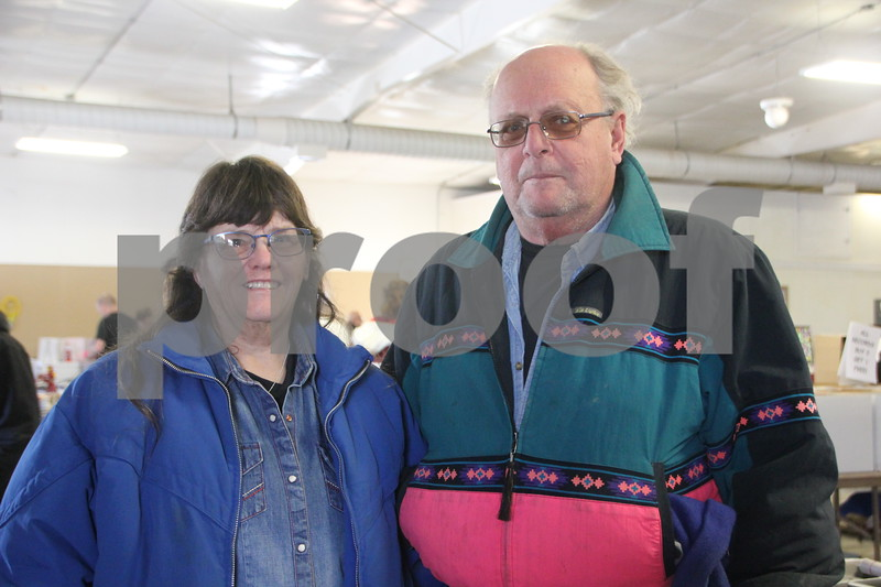 Seen here (left to right) is: Jan and Frank Popp who stopped by to check out the  Winter Flea Market event. On January, 14, 2017 the Fort Dodge Webster County Fairgrounds was the sight of the Winter Flea Market.