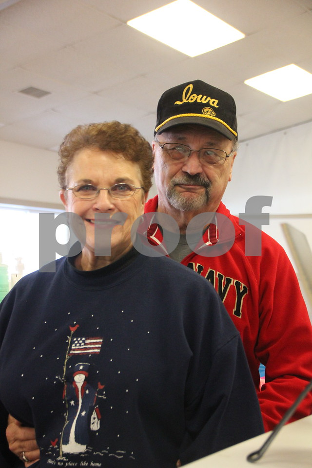 January, 14, 2017 the Fort Dodge Webster County Fairgrounds was the sight of the Winter Flea Market. Shown here is (left to right): Nancy and Jerry Reiter , one of countless vendors at the event.