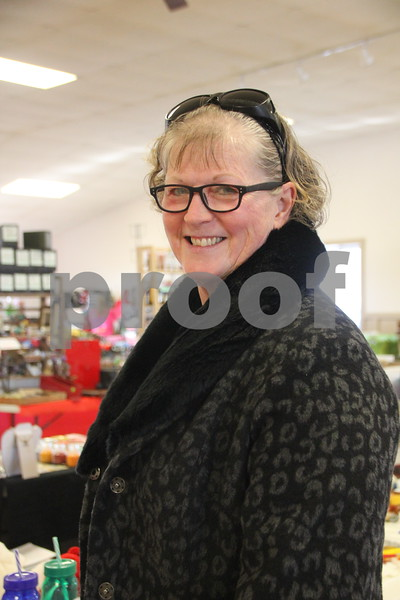 Shown here is: June Richardson, paused to get a picture taken at the Winter Flea Market. On January, 14, 2017 the Fort Dodge Webster County Fairgrounds was the sight of the Winter Flea Market.