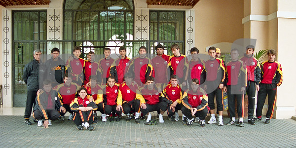 Galatasaray S.K. team shot outside La Manga Club Hotel, January 1997