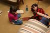Elizabeth & Alice playing Master Mind.