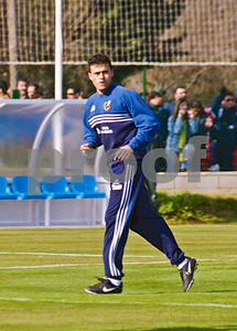 Luis Enrique with the Spanish National Football Squad training at La Manga Club, 25th January 2001