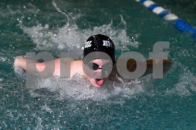 1/13/2017 Mike Orazzi | Staff Bristol Co-op swimming's Cameron Reed during Friday's meet with Avon in Bristol.