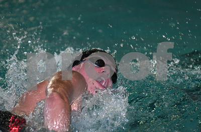 1/13/2017 Mike Orazzi | Staff Bristol Co-op swimming's Michael Bond during Friday's meet with Avon in Bristol.