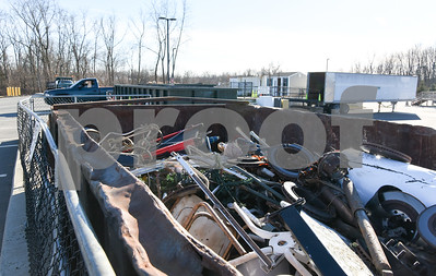 011317  Wesley Bunnell | Staff  A dumpster full of metal items sits mostly full at the New Britain recycling center on Friday afternoon.