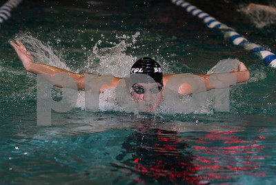 1/13/2017 Mike Orazzi | Staff Bristol Co-op swimming's Elijah Ortiz during Friday's meet with Avon in Bristol.