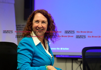 1/17/2017 Mike Orazzi | Staff Congresswoman Elizabeth Esty during a visit to Connecticut Tool & Manufacturing in Plainville Tuesday.