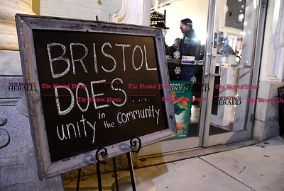 1/20/2017 Mike Orazzi | Staff The Bristol Does unity in the community held at the  T Salon Hair & Nails on Main Street in Bristol Friday evening.
