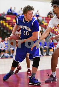 012317  Wesley Bunnell | Staff  New Britain boys basketball vs Bristol Eastern at New Britain High School. Bristol Eastern Jake Violette (20).