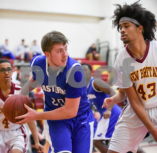 012317  Wesley Bunnell | Staff  New Britain boys basketball vs Bristol Eastern at New Britain High School.