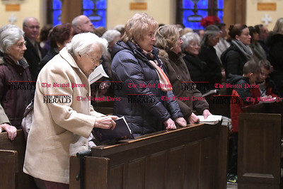 1/14/2017 Mike Orazzi | Staff Sacred Heart Church on Broad Street in New Britain during Saturday evening's mass.
