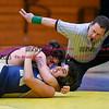 011817  Wesley Bunnell   Staff<br /> <br /> Newington High School wrestling vs New Britain on Jan 18 at Newington High School.  New Britain's Dominico Fusco, top, pins Newington's Aidan Lozado.