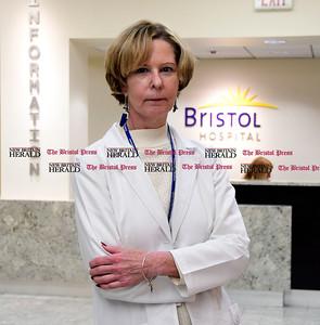 1/18/2017 Mike Orazzi | Staff Bristol Hospital's Donna Morris, infection Preventionist Safety/Emergency Preparedness Coordinator.
