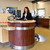 011917  Wesley Bunnell | Staff<br /> <br /> Farmington Bank in Plainville which features an open layout between tellers and customers.  Assistant Vice President & Branch Manager Solidea Pitruzzello.