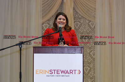 011917  Wesley Bunnell | Staff  Mayor Erin Stewart announced her 2017 re election campaign on Thursday evening at the St. George's Greek Orthodox Church Hall