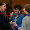 011917  Wesley Bunnell | Staff<br /> <br /> A reception was held on Thursday afternoon in CCSU's Student Center for incoming President Dr. Zulma R. Toro. President Toro, center, speaks with Professor Catherine Fellows, left, and Dr. Jan Bishop.