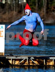 1/21/2017 Mike Orazzi | Staff Daniel Forgione during the 12th Annual YMCA Sloper Plunge held at  YMCA Camp Sloper in Southington Saturday. The event raises money for camp scholarships.
