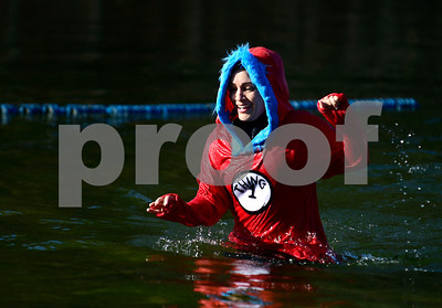 1/21/2017 Mike Orazzi | Staff Marilyn Cheyne  during the 12th Annual YMCA Sloper Plunge held at  YMCA Camp Sloper in Southington Saturday. The event raises money for camp scholarships.