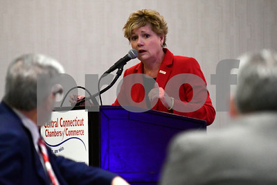 1/24/2017 Mike Orazzi | Staff Cindy Scoville, President & CEO Central CT Chambers of Commerce, during the Central Connecticut Chambers of Commerce's annual Legislative Breakfast held at the DoubleTree by Hilton Tuesday morning in Bristol.