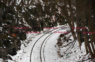 1/25/2017 Mike Orazzi | Staff The railroad tracks near North Main and Curtis Streets in Bristol.