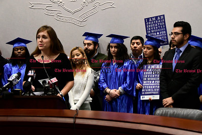 1/26/2017 Mike Orazzi | Staff State Senator Mae Flexer during the CT Students for a Dream press conference at the state capitol in Hartford Thursday morning while supporting a campaign for tuition equality for undocumented students.