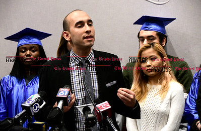 1/26/2017 Mike Orazzi | Staff State Rep. Chris Soto during the CT Students for a Dream press conference at the state capitol in Hartford Thursday morning while supporting a campaign for tuition equality for undocumented students.