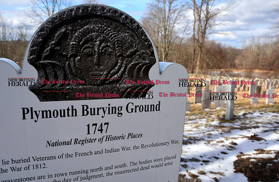 1/28/2017 Mike Orazzi | Staff The Plymouth Burying Ground adjacent to the Plymouth Congregational Church in Terryville.