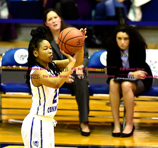 1/28/2017 Mike Orazzi | Staff CCSU's Aleah Epps (24) during Saturday's basketball game in New Britain.