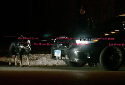 1/27/2017 Mike Orazzi | Staff Police and fire crews were looking for a missing person Friday evening in a somewhat wooded area off of Clover Road. Police with a K9 and fireman used their thermal imaging devices in the search that lasted about an hour.