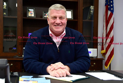1/31/2017 Mike Orazzi | Staff Bristol Mayor Ken Cockayne at city hall Tuesday.
