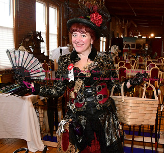 1/7/2016 Mike Orazzi | Staff Jenna Bullock-Eckman during the Brass Ring Academy featuring steampunk fashion, workshops, art, vendors, music and performances at the England Carousel Museum in Bristol Saturday.