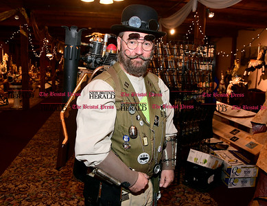 1/7/2016 Mike Orazzi | Staff Jim Schrager during the Brass Ring Academy with featuring steampunk fashion, workshops, art, vendors, music and performances at the England Carousel Museum in Bristol Saturday.