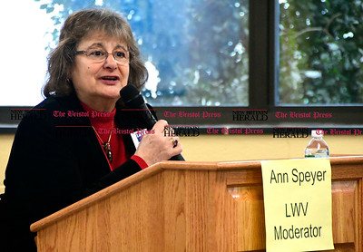 1/7/2016 Mike Orazzi | Staff Ann Speyer during the New Britain area League of Women Voters' public brunch with New Britain area legislators Saturday at the New Britain Public Library.