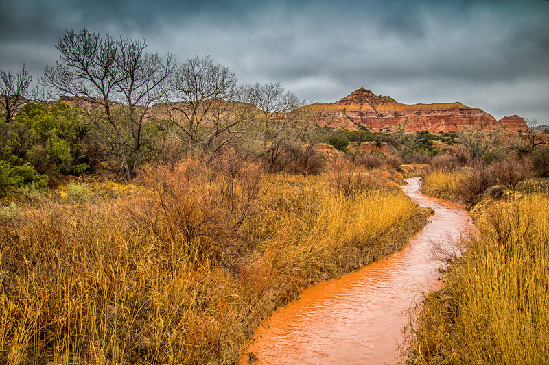Palo Duro Canyon After a Winter's Rain