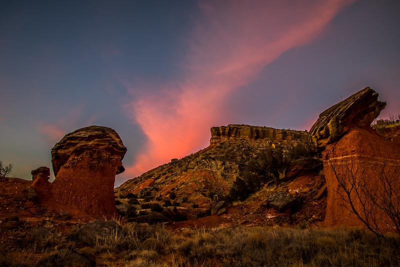 Palo Duro Canyon Evening Skies