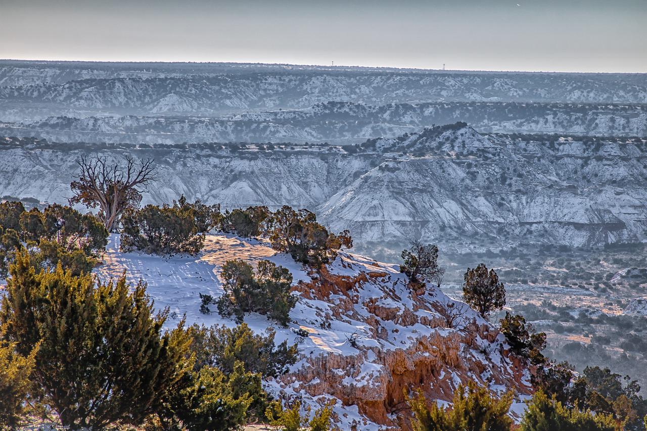 Snowy Palo Duro Canyon