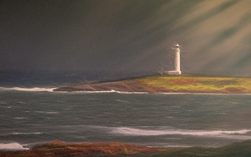 """Cape Leeuwin Lighthouse, WA - à la William Turner."""