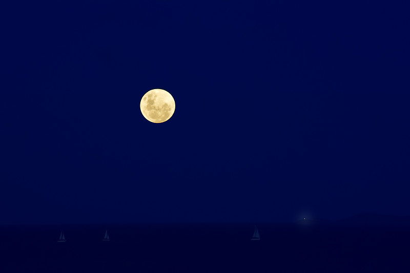 """""""Super Moon Over Cleveland Bay, January 31st, 2018, Townsville."""""""