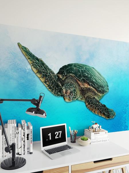"""Green Sea Turtle.""  Wall Art."