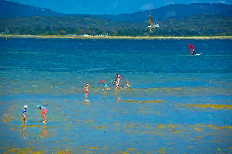 """Sunday Afternoon at Lagoon Cove, Tamar River, George Town, Tasmania."""