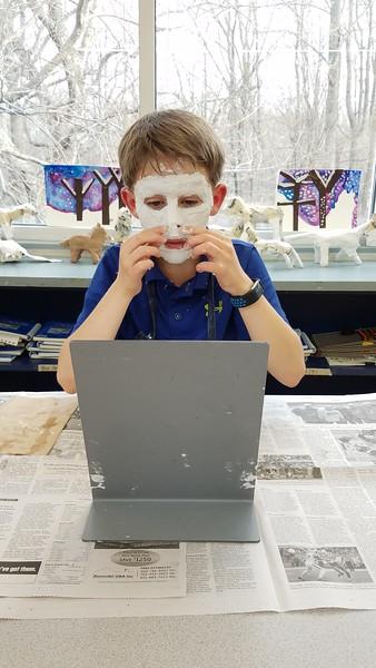 Creating Egyptian Masks in Fourth Grade Art