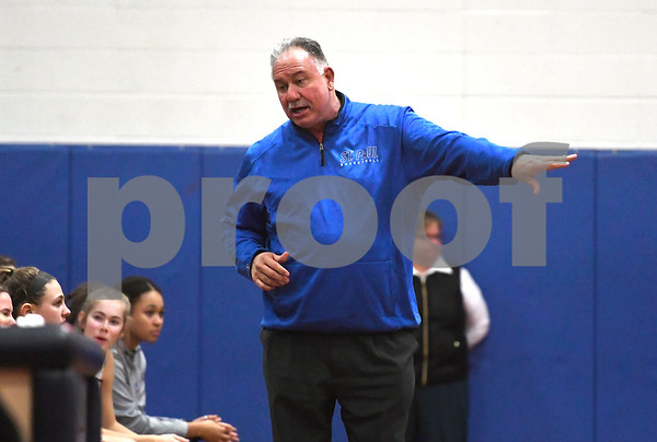 1/3/2017 Mike Orazzi | Staff St. Paul's Joe Mone during Wednesday night's girls basketball game in Bristol.
