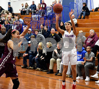 1/3/2017 Mike Orazzi | Staff St. Paul's Janessa Gonzalez (11) during Wednesday night's girls basketball game with Naugatuck in Bristol.