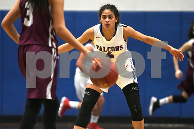 1/3/2017 Mike Orazzi | Staff St. Paul's Aidrianna Lopez (4) during Wednesday night's girls basketball game with Naugatuck in Bristol.