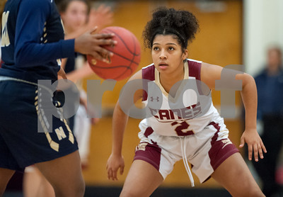 01/08/18  Wesley Bunnell | Staff  New Britain basketball was defeated by Newington on Monday evening at New Britain High School. Asia Gaines (2),
