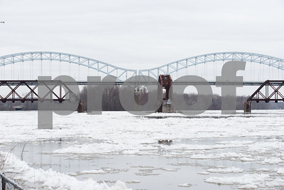 01/15/18  Wesley Bunnell | Staff  Large amounts of ice make their way down the Connecticut River in Middletown flooding parts of Harbor Yard just past the Arrigoni Bridge.